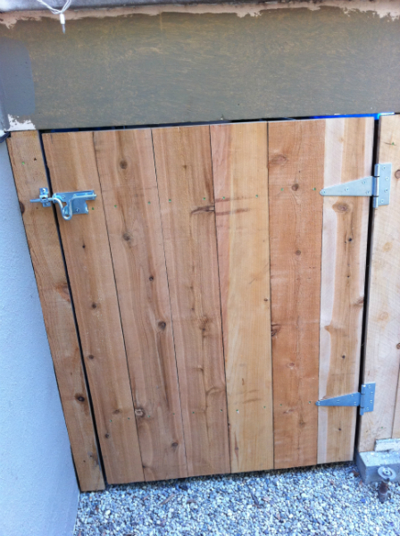 Standard Cedar gate with metal style hardware