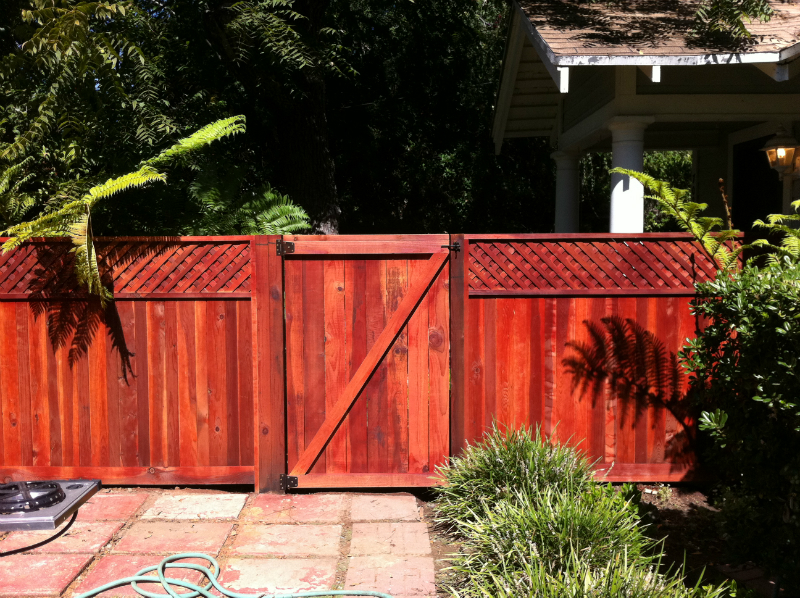 Redwood trim & cap gate