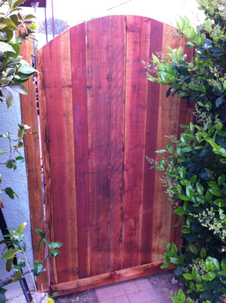 Arched Redwood stye gate