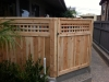 4' Cedar front garden gate with trellis detail and black style hardware