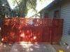Redwood double gate with trellis detail