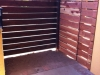 Front enterence Redwood contempory horizontal gate with a Chocolate stain
