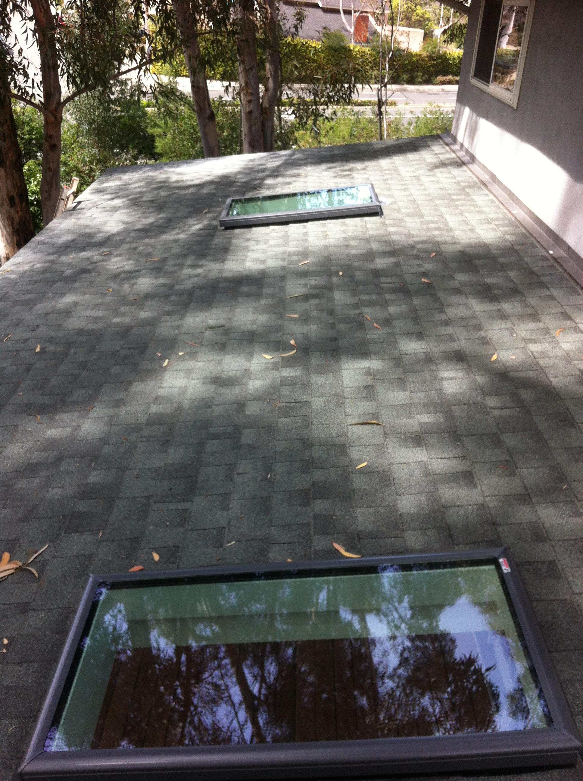 Roof with velux windows