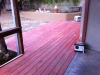 Stained douglas fir deck