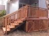 Redwood deck with stairs
