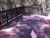 Composite deck with guardrail