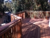 Redwood deck with guardrail