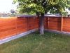 Heart redwood horizontal style fence