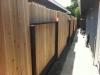 Cedar dog ear reverse panel