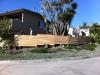 Cedar horizontal style fence