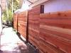 Redwood horizontal style fence